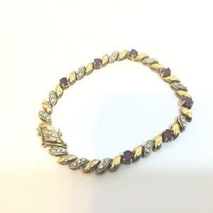 Ross Simons .925 Silver Amethyst Tennis Bracelet